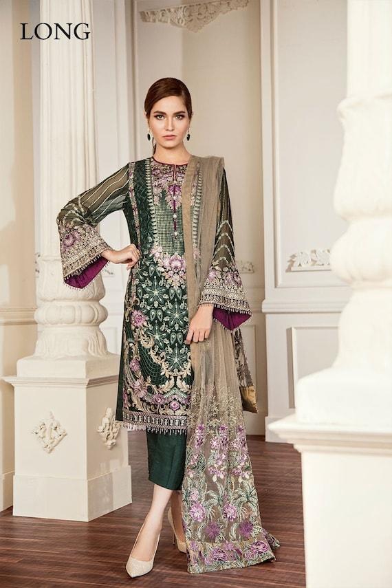Pakistani Baroque Collection 2018 Embroidery designer Shalwar Kameez