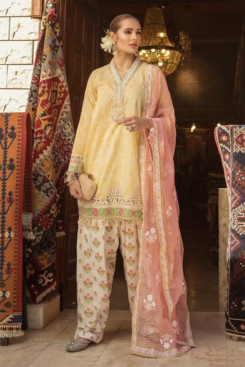 253e524139 Original Maria B Lawn 2019 Pakistani Designer Indian Salwar | Etsy