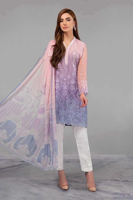 Maria.b pakistani indian designer lawn shalwar kameez brand stitched 2018