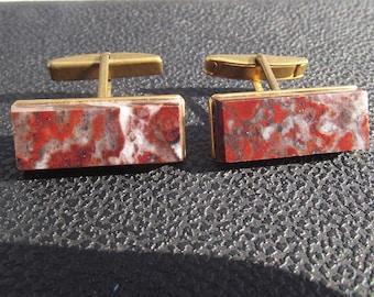 Vintage cufflinks. Vintage cuff links beautiful stone