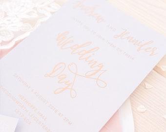 Wedding Invitation - Moonlit Blush
