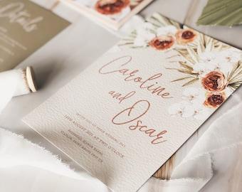 Wedding Invitation - Boho Terracotta