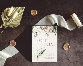 Wedding Invitation - Tropical Orchid