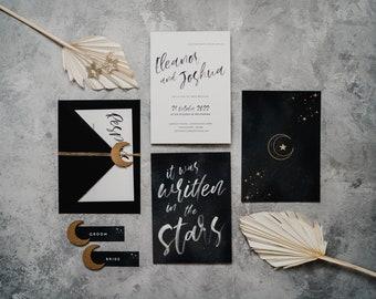 Wedding Invitation - Celestial Romance
