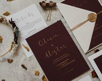 Wedding Invitation - Velvet Passion