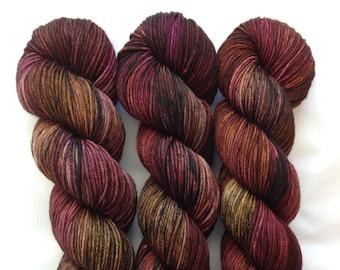 Nampara - Hand Dyed DK Yarn - Superwash Merino Nylon -  Pink Purple Brown Orange