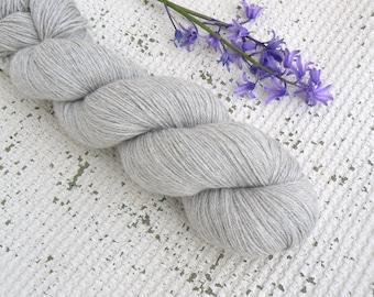 Alpaca Yarn - Silver Grey - Alpaca Silk Cashmere - Fingering Weight