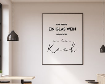 Pictures kitchen | Wine poster as a gift idea | Take a glass of wine