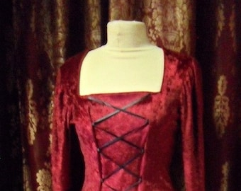 Designs on You Medieval Blood Red Gown