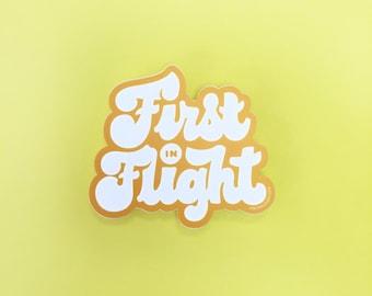 First in Flight Sticker | Designer Made, Custom Design, NC Made