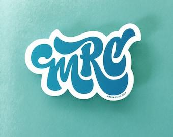 MRC Logo Sticker | Designer Made, Custom Design, NC Made
