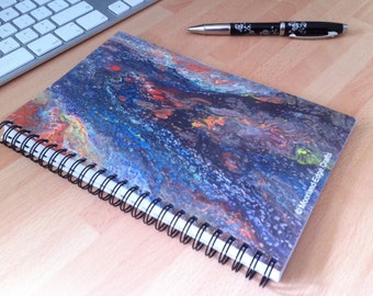 Wire Bound Notebook with High Definition Print of an Original Painting on Front Cover