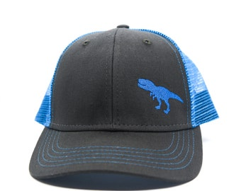 6942164359a70 Toddler Youth Child Trucker Hat with T-Rex Dinosaur