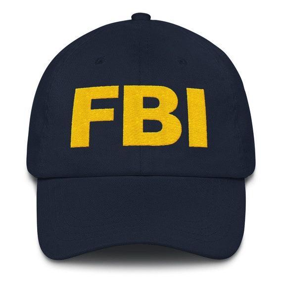 FBI Hat Classic FBI Agent Dad Hat Front   Back Embroidery  80b057143c8