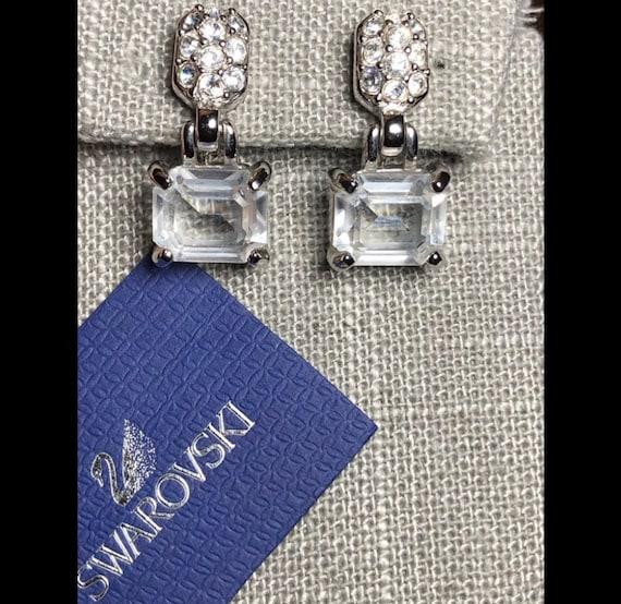 SWAROVSKI CRYSTAL Clip on runway Earrings