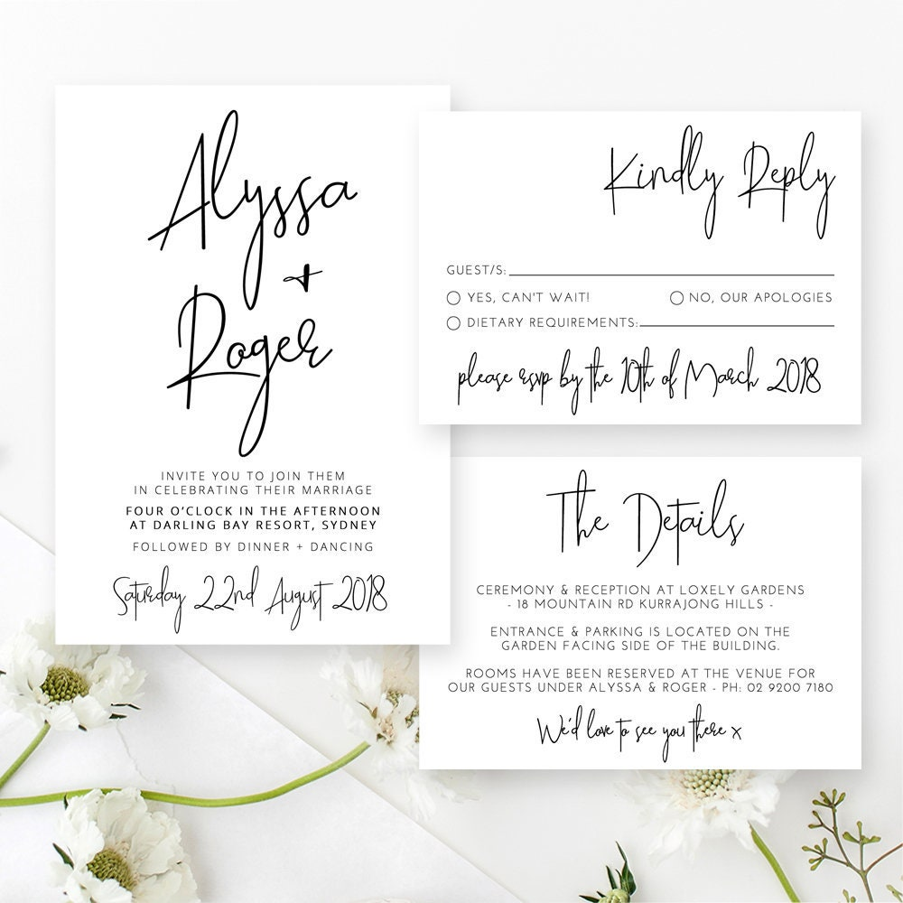 When Should Wedding Invitations Be Ordered: Editable Wedding Invitation Printable Wedding Invitations