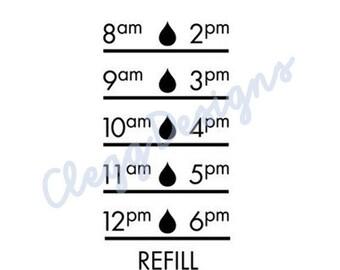 Water Bottle Sticker SVG, Water Tracker Decal Digital Design, Instant Download, JPEG, Silhouette V3 File, Water Tracker SVG, Print, Clip Art