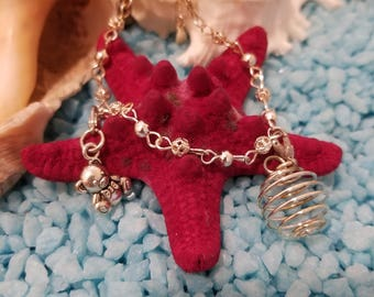 Sterling Silver & Crystal Charm Bracelet with Pearl Holder