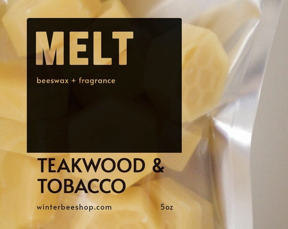 Teakwood & Tobacco Scented Beeswax Melts