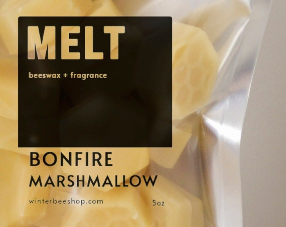 Bonfire Marshmallow Scented Beeswax Melts