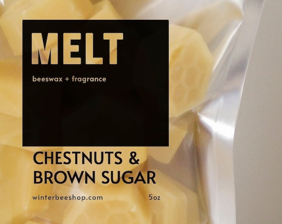 Chestnuts & Brown Sugar Scented Beeswax Melts