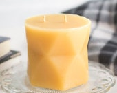 Geometric Beeswax Pillar Candles
