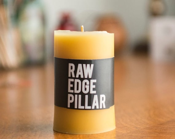 Beeswax Pillar Candles - Raw Edge Pillar