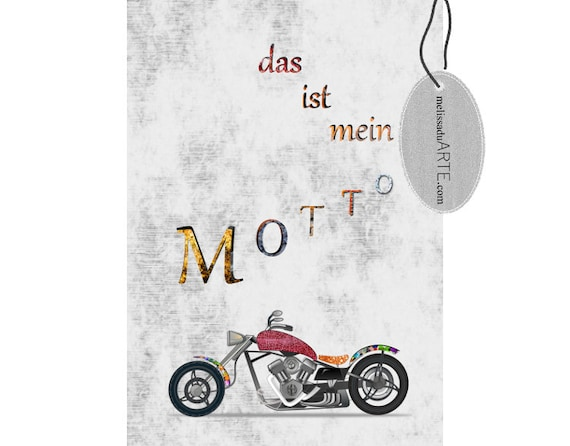 Das ist mein Motto, (Esse é o meu Lema),  Printable  Digital Art INSTANT DOWNLOAD