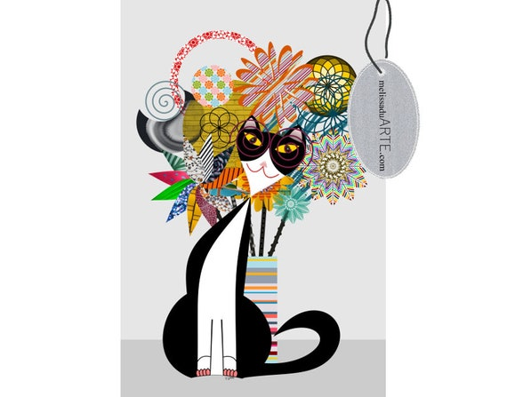 Frajola Carnival, Digital Art Printable Illustration Instant Download