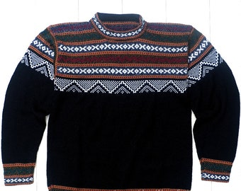 e7dce5fb53ab5 Black Alpaca Sweater Unisex