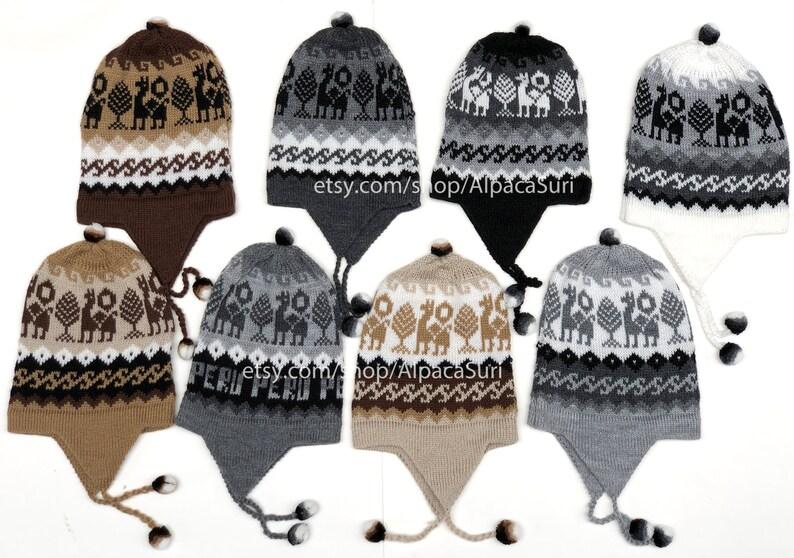 2ca9be902 Alpaca winter hats earflaps Andean alpaca winter hats unisex, Winter hats  soft and warm alpaca wool winter hats, Peruvian chullo hats