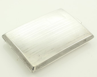 Art Deco Sterling Silver Necessaire by G.H. French - Antique Engine Turned Pocket Money Card Case