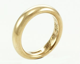 Ostby Barton  Wedding Ring of 10K Rosy Gold Size 7.75 - Vintage 1922 OB Noblesse Band -  Hand Engraved Antique Wedding Ring - Estate Jewelry
