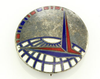 WWII Sterling Enamel Air Transport Command Pin - Vintage Silver Military Service Insignia - Army Air Forces Badge