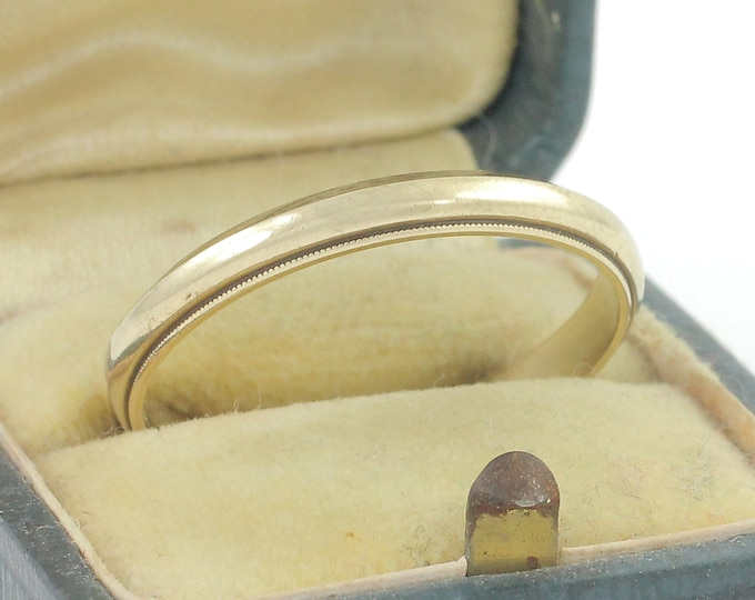 Featured listing image: 14K Wedding Ring - Vintage Yellow Gold Wedding Band Size 12 3.3 Grams - Vintage Fine Jewelry