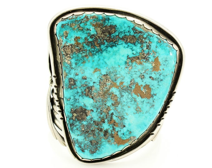 Featured listing image: Huge Vintage Morenci Calico Turquoise Sterling Southwestern Bracelet - Native Silver Jewelry
