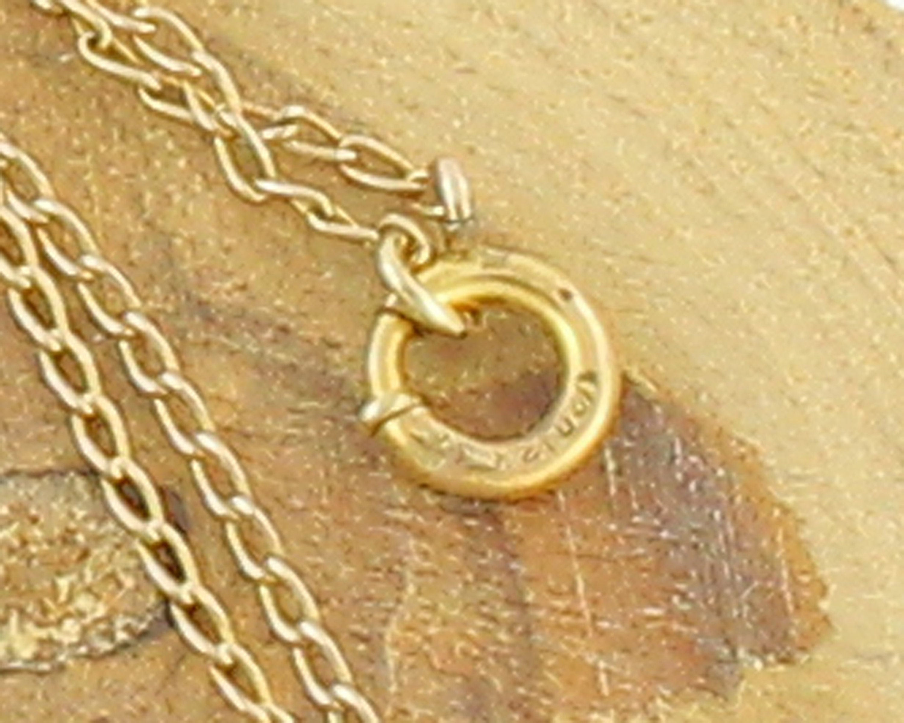 Vintage Gold-tone CACO 120 12K Gold filled Chain With Heart