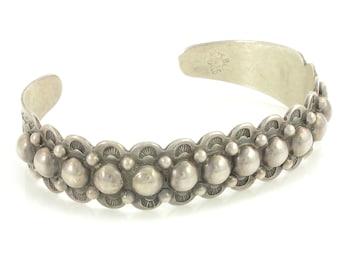 Vintage Bell Trading Sterling Silver Raindrop Bracelet, Fred Harvey Era Stamped Cuff, 22.5 gram c1935, Vintage Jewelry, Stocking Stuffer