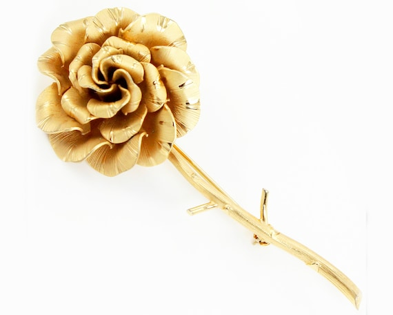 Gold Filled Rose Small Size Pin or Pendant Vintage