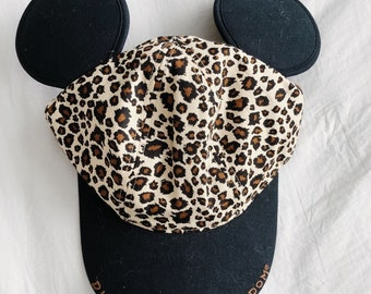 18d484a5d6a8e Vtg Youth Disney s Animal Kingdom Leopard Mickey Ears Hat