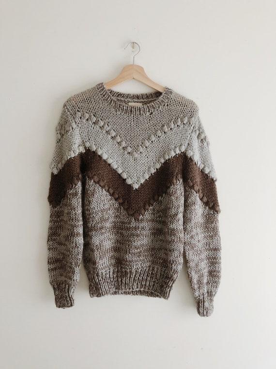 Vintage Textured Knit Sweater