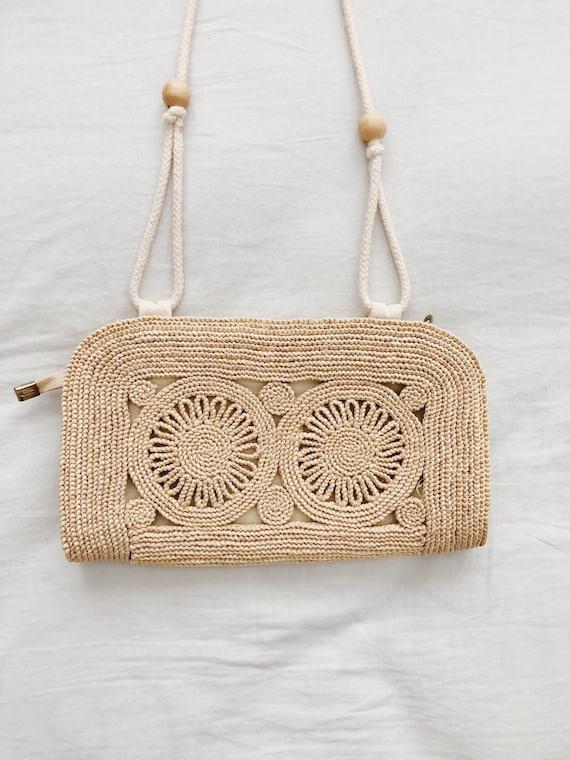Boho Woven Straw Shoulder Bag