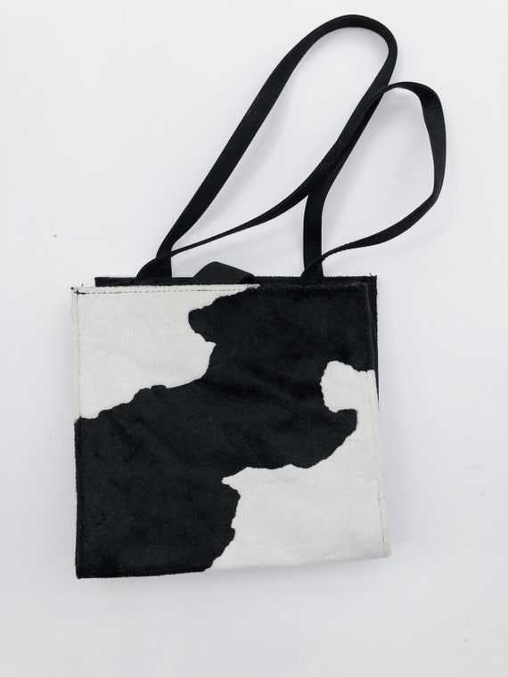 Faux Fur Cow Print Tote Bag