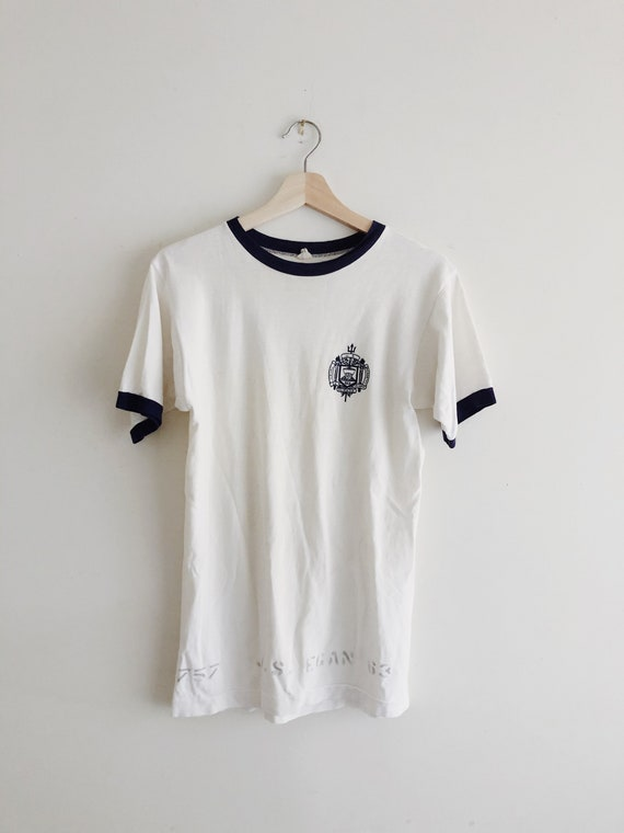 1950's Naval Academy Ringer Tee by Champion