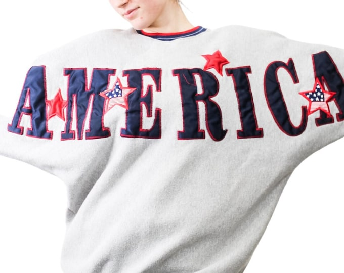 Vintage America USA Spellout Sweatshirt - L