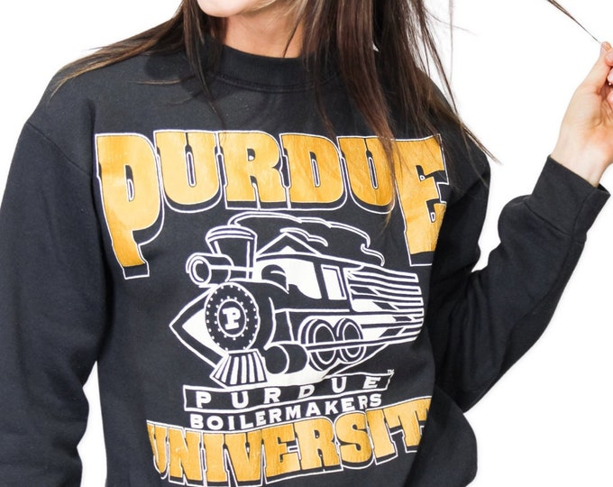 Vintage Purdue University Sweatshirt - M