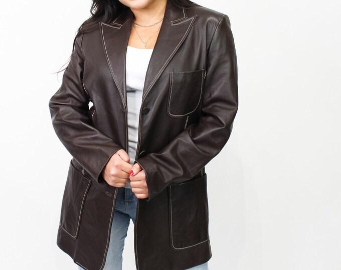 Vintage 90s Leather Jacket - L