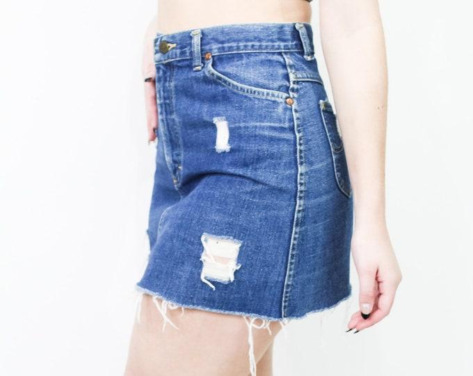 Lee Vintage Cut Off Skirt Size 27/28
