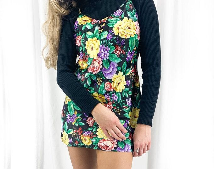 Vintage Floral Slip Dress - S