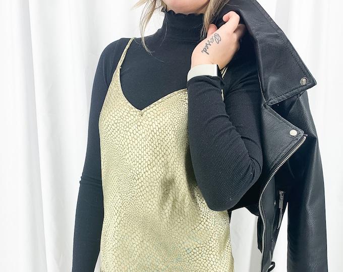 Vintage Gold Slip Dress - L
